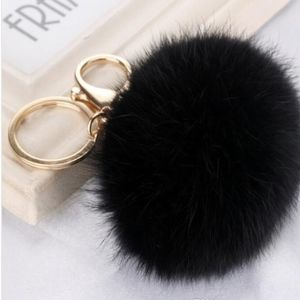 Accessories - COMING SOON Rabbit Fur Keychain in Black